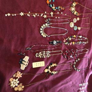 Assorted fashion/costume jewelry.
